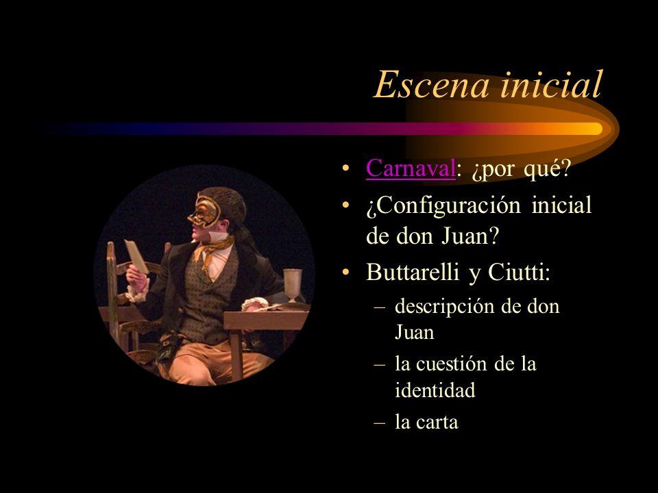 Escena inicial Carnaval: ¿por qué ¿Configuración inicial de don Juan