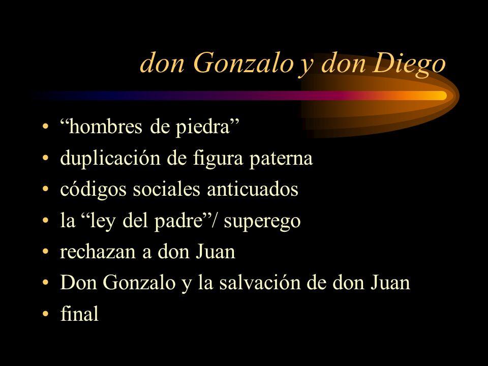 don Gonzalo y don Diego hombres de piedra
