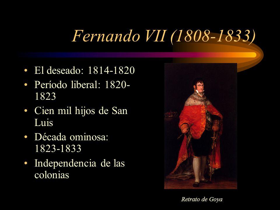Fernando VII (1808-1833) El deseado: 1814-1820