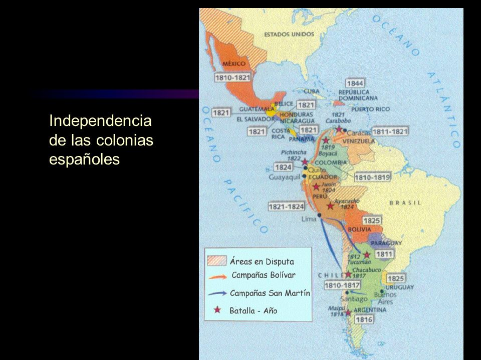 Independencia de las colonias españoles
