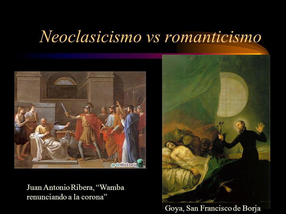 Neoclasicismo vs romanticismo