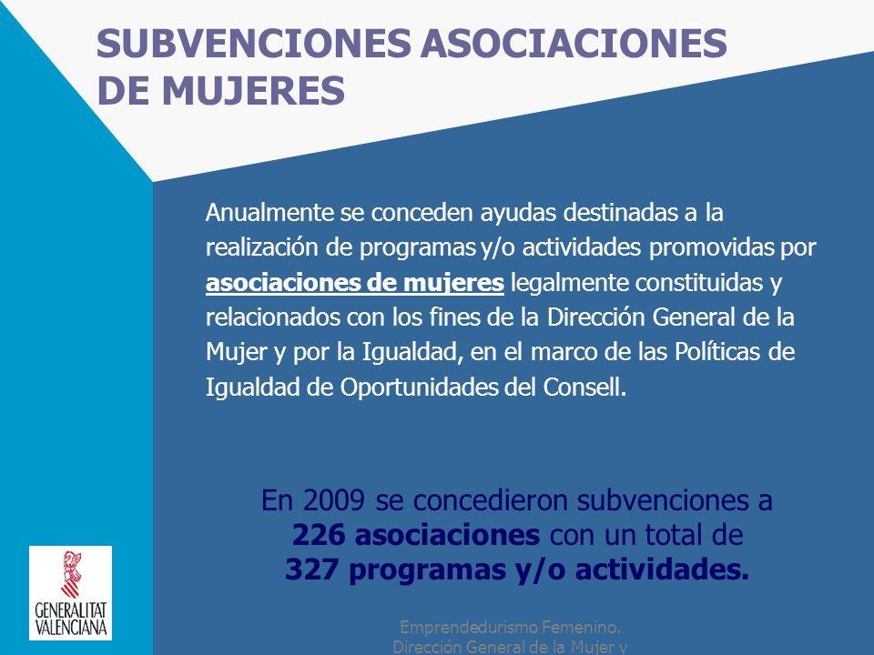 SUBVENCIONES ASOCIACIONES DE MUJERES
