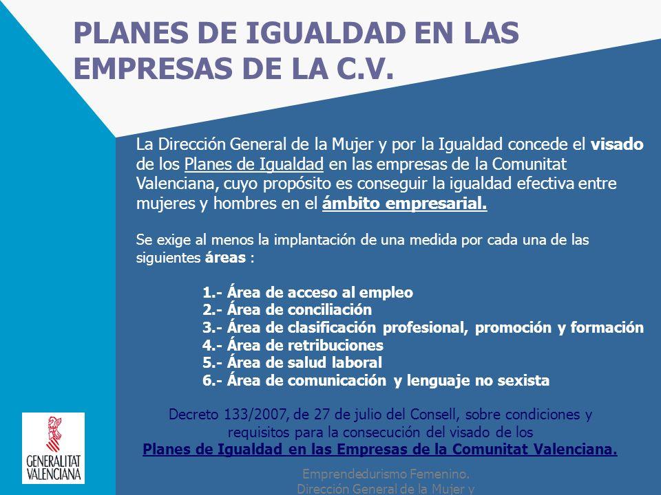 PLANES DE IGUALDAD EN LAS EMPRESAS DE LA C.V.
