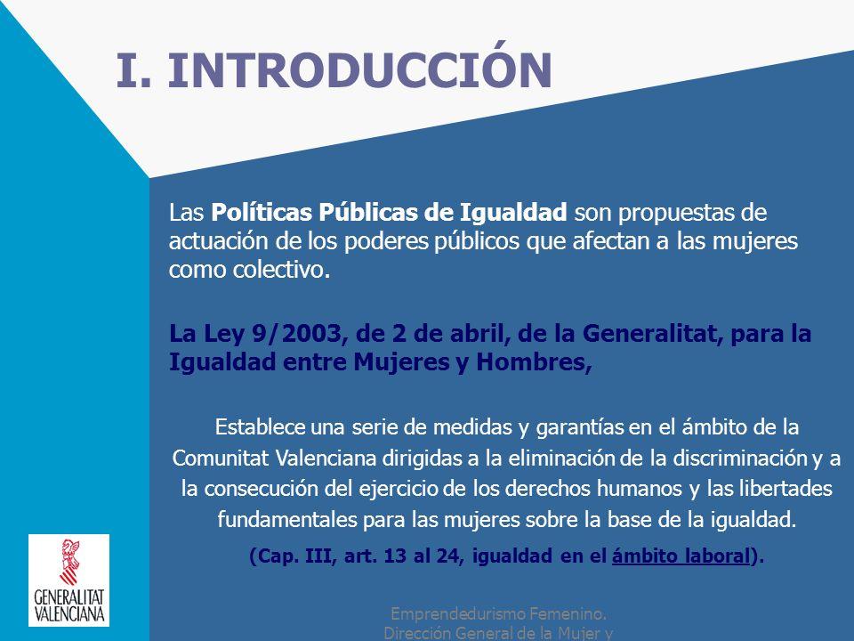 (Cap. III, art. 13 al 24, igualdad en el ámbito laboral).