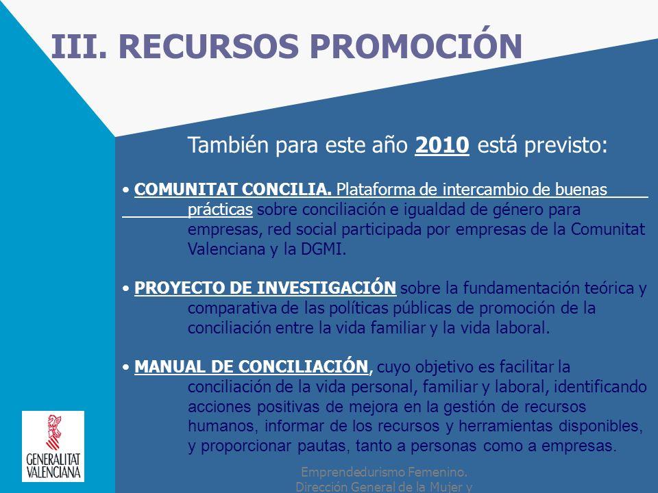 III. RECURSOS PROMOCIÓN
