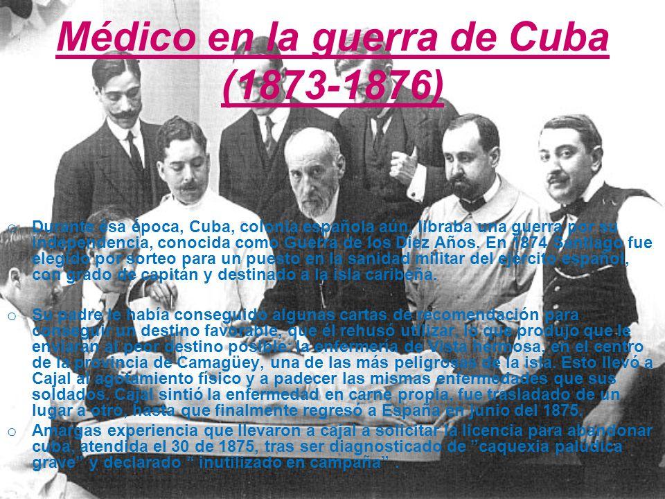 Médico en la guerra de Cuba (1873-1876)