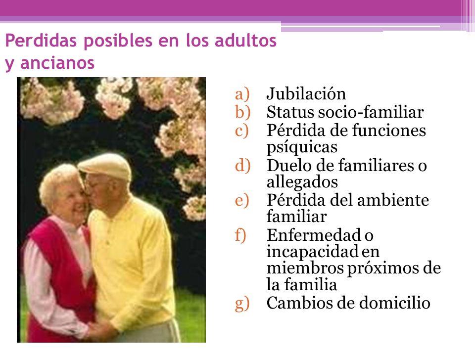 Perdidas posibles en los adultos y ancianos