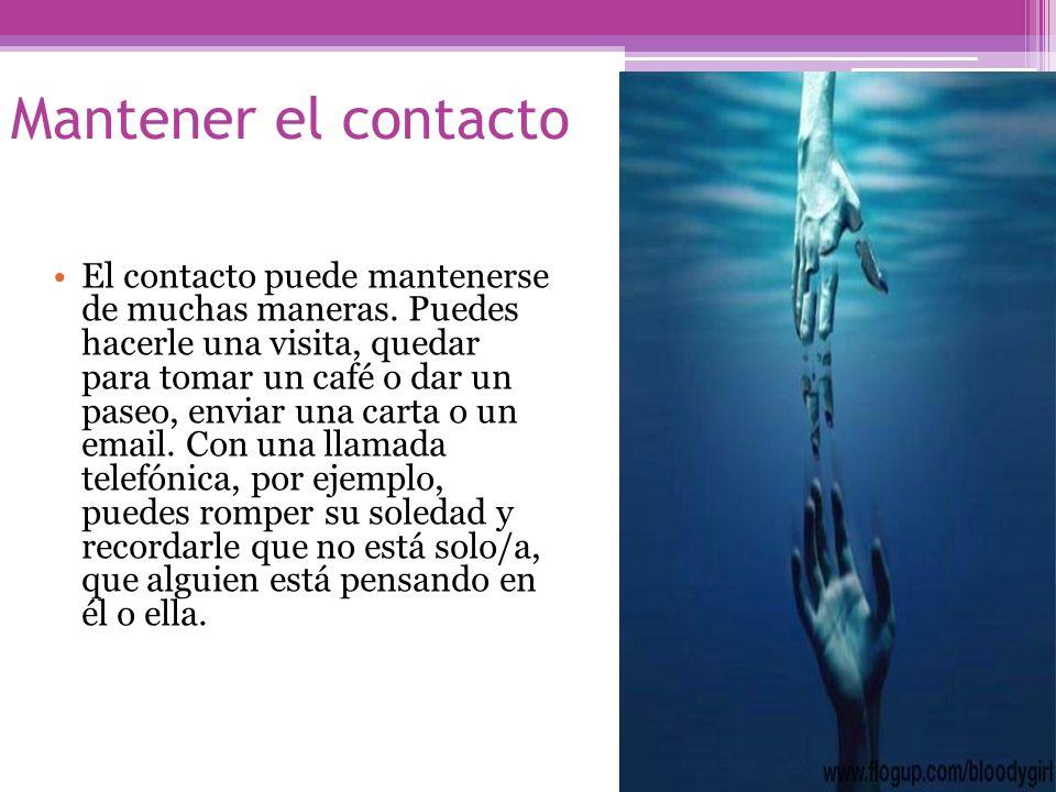 Mantener el contacto
