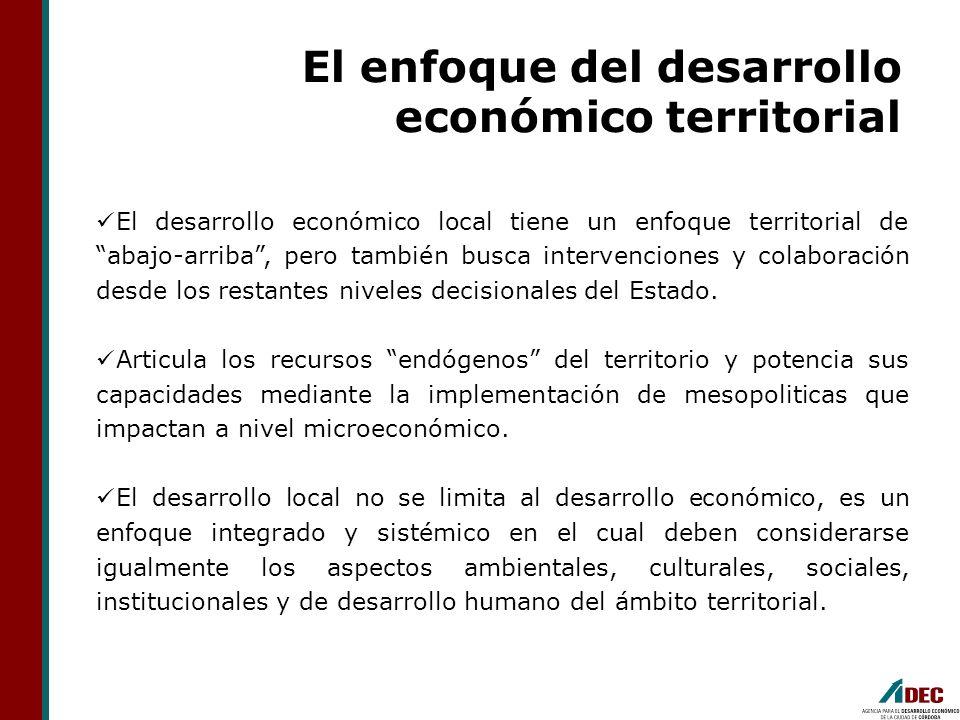 El enfoque del desarrollo económico territorial