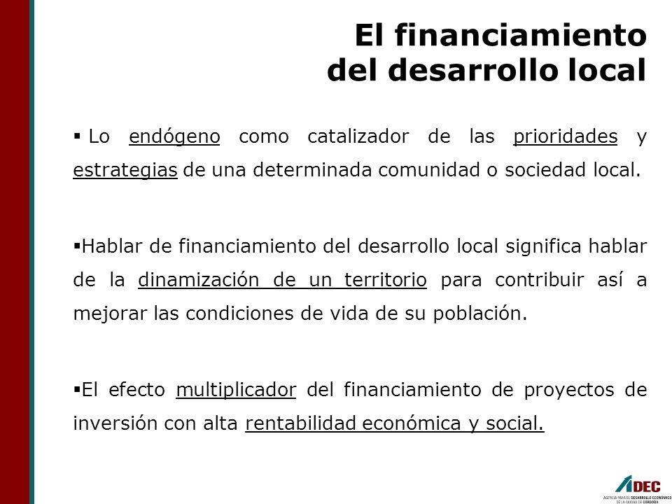 El financiamiento del desarrollo local