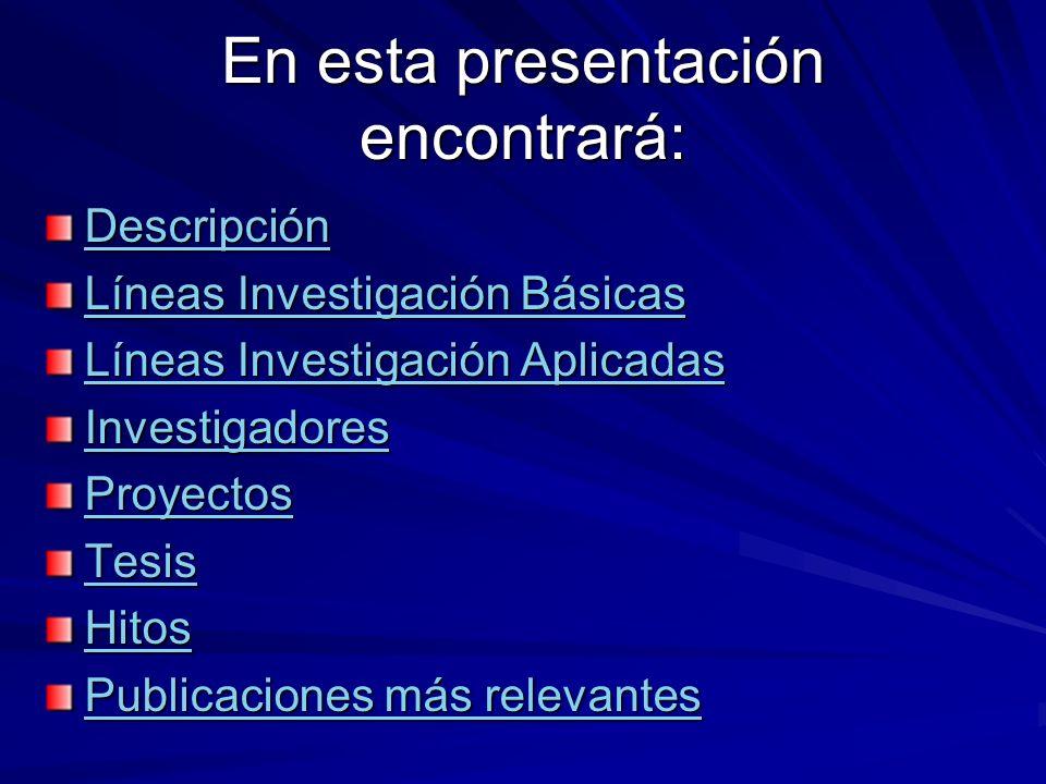 En esta presentación encontrará: