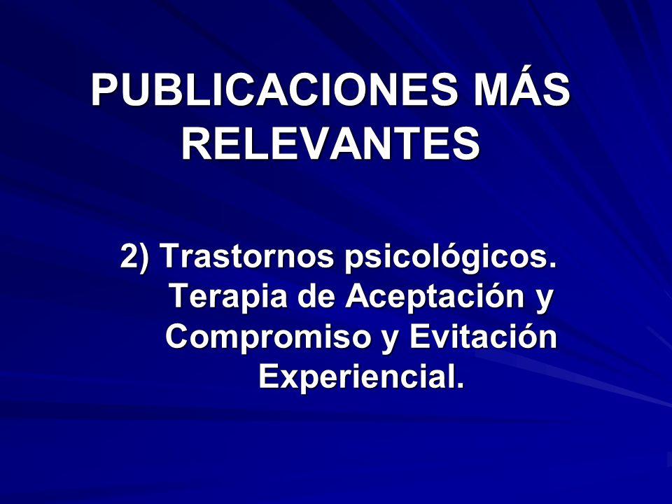 PUBLICACIONES MÁS RELEVANTES