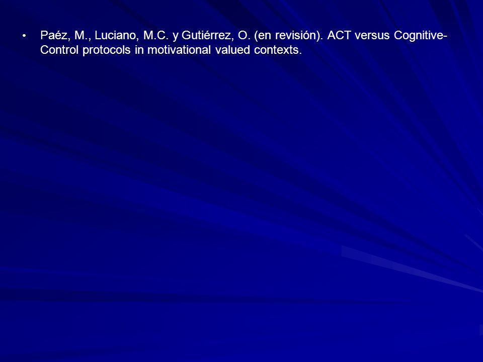 Paéz, M. , Luciano, M. C. y Gutiérrez, O. (en revisión)