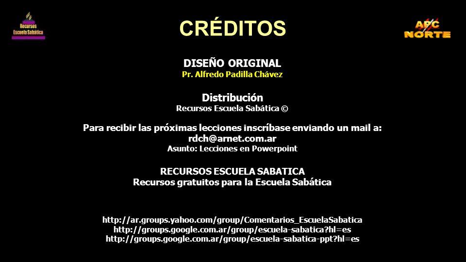 CRÉDITOS DISEÑO ORIGINAL Distribución