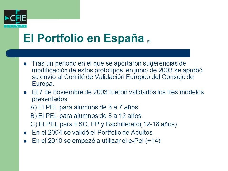 El Portfolio en España (2)