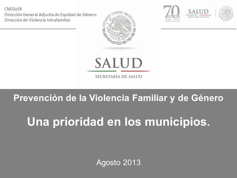 Una prioridad en los municipios.