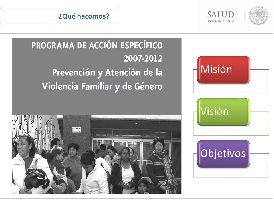 ¿Qué hacemos Misión Visión Objetivos