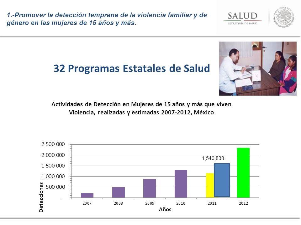 32 Programas Estatales de Salud