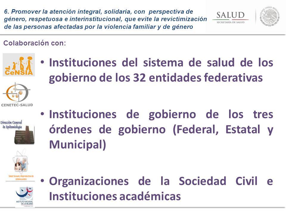 Organizaciones de la Sociedad Civil e Instituciones académicas