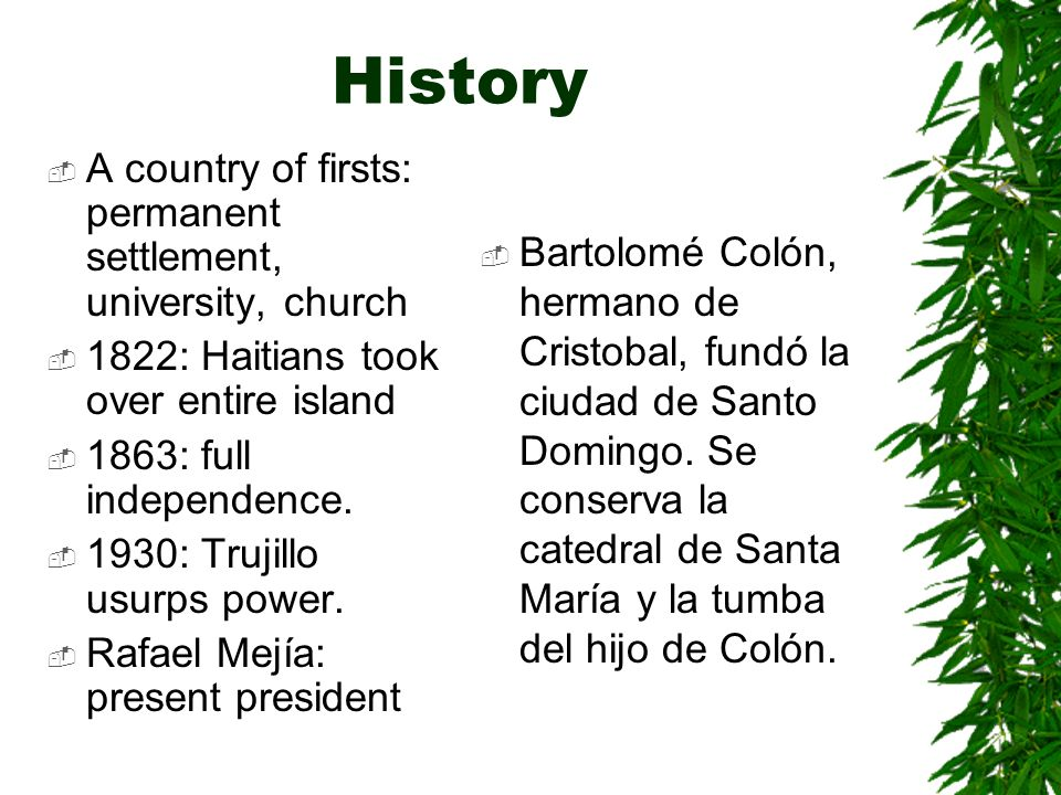 History A country of firsts: permanent settlement, university, church