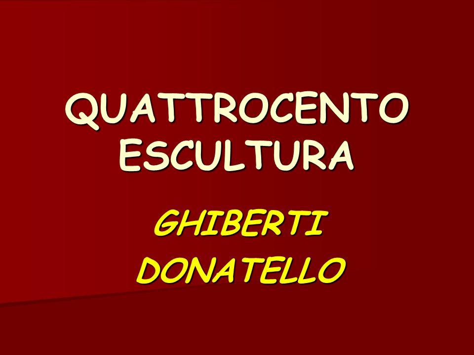 QUATTROCENTO ESCULTURA