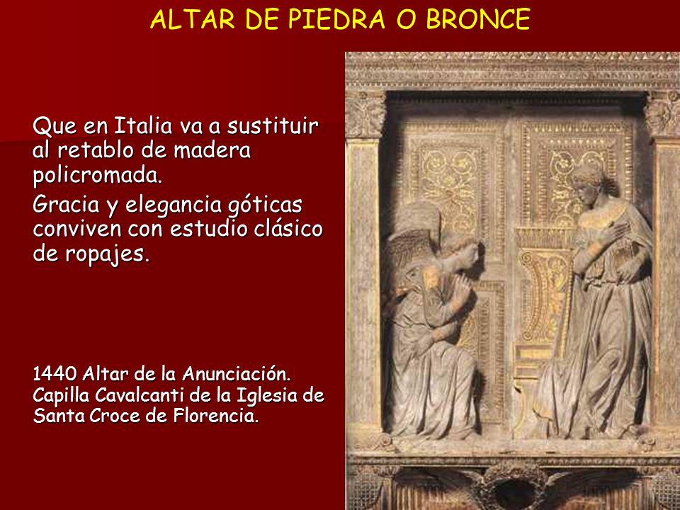 ALTAR DE PIEDRA O BRONCE