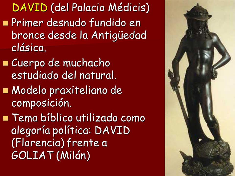 DAVID (del Palacio Médicis)