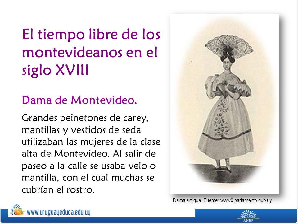 El tiempo libre de los montevideanos en el siglo XVIII