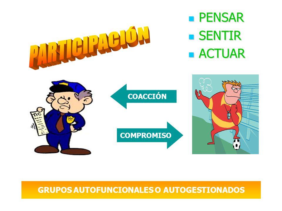 GRUPOS AUTOFUNCIONALES O AUTOGESTIONADOS