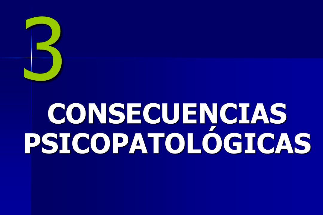 CONSECUENCIAS PSICOPATOLÓGICAS