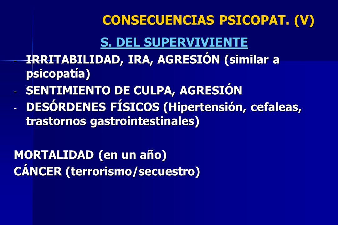 CONSECUENCIAS PSICOPAT. (V)