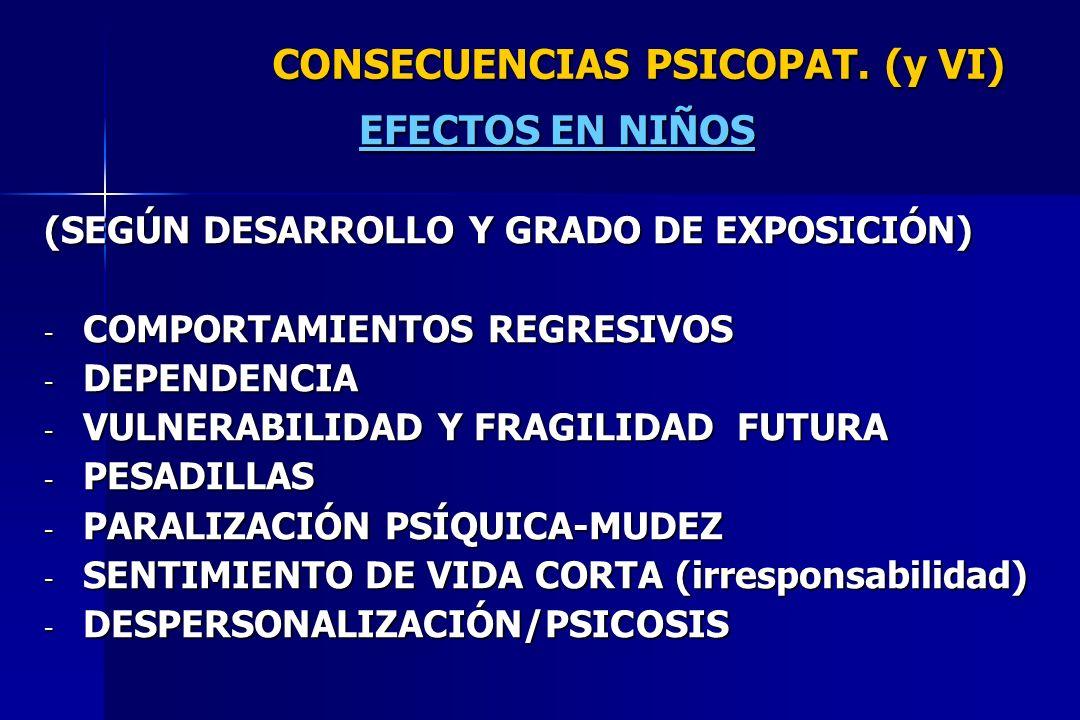 CONSECUENCIAS PSICOPAT. (y VI)