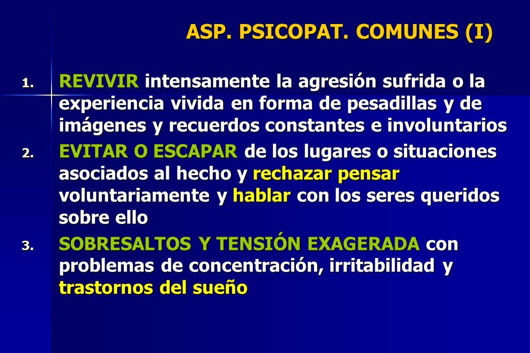 ASP. PSICOPAT. COMUNES (I)