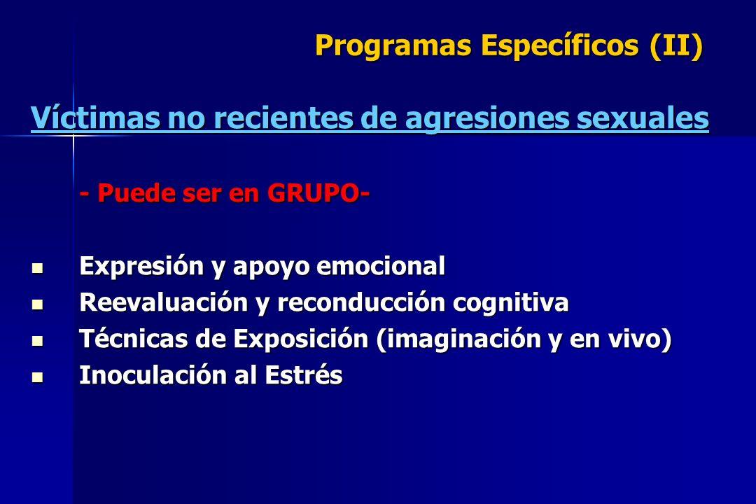 Programas Específicos (II)