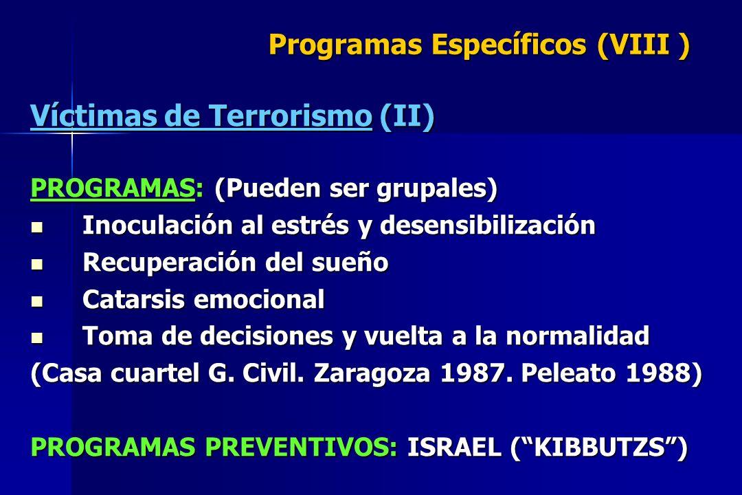 Programas Específicos (VIII )