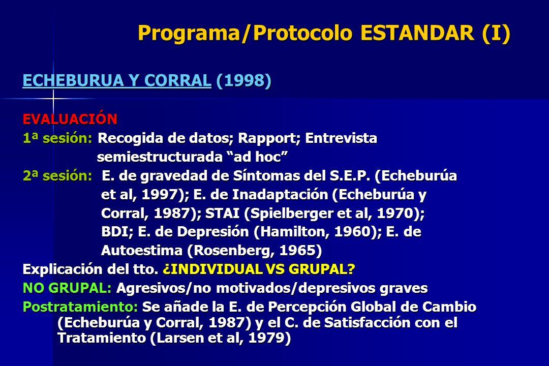 Programa/Protocolo ESTANDAR (I)