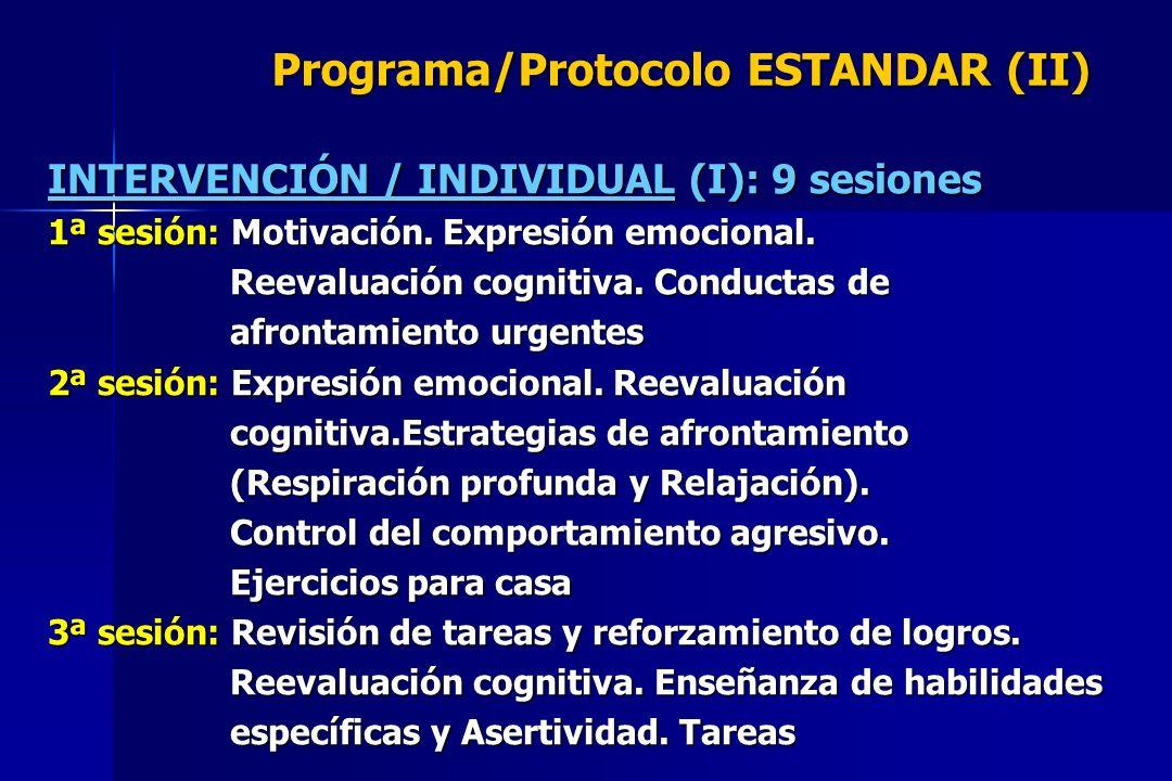 Programa/Protocolo ESTANDAR (II)