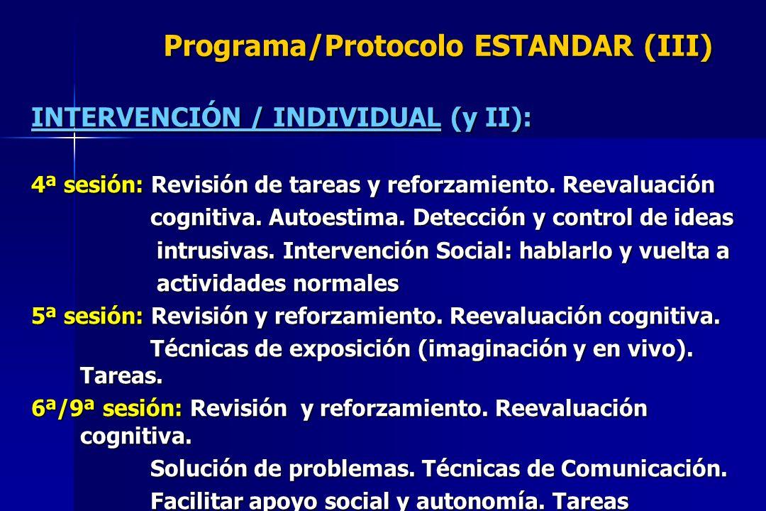 Programa/Protocolo ESTANDAR (III)