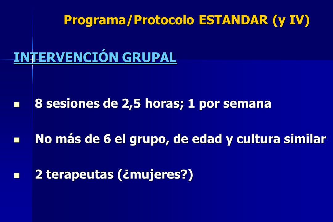 Programa/Protocolo ESTANDAR (y IV)