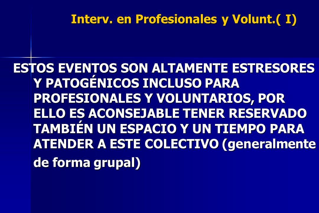 Interv. en Profesionales y Volunt.( I)
