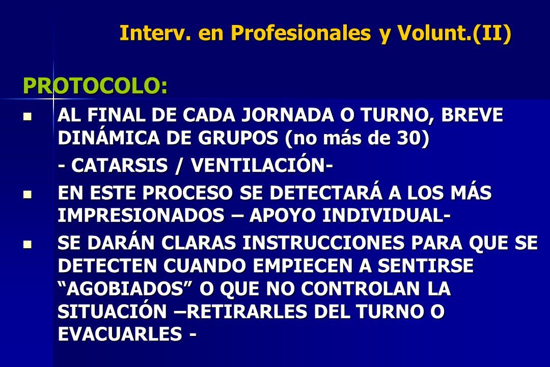 Interv. en Profesionales y Volunt.(II)