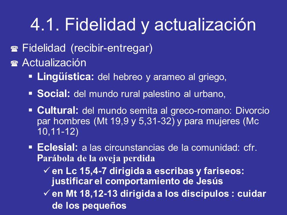 4.1. Fidelidad y actualización