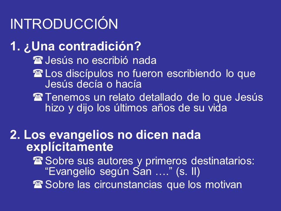 INTRODUCCIÓN 1. ¿Una contradición