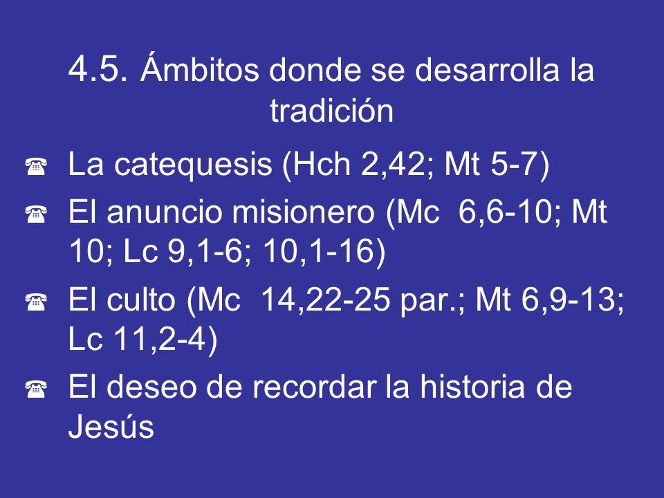 4.5. Ámbitos donde se desarrolla la tradición