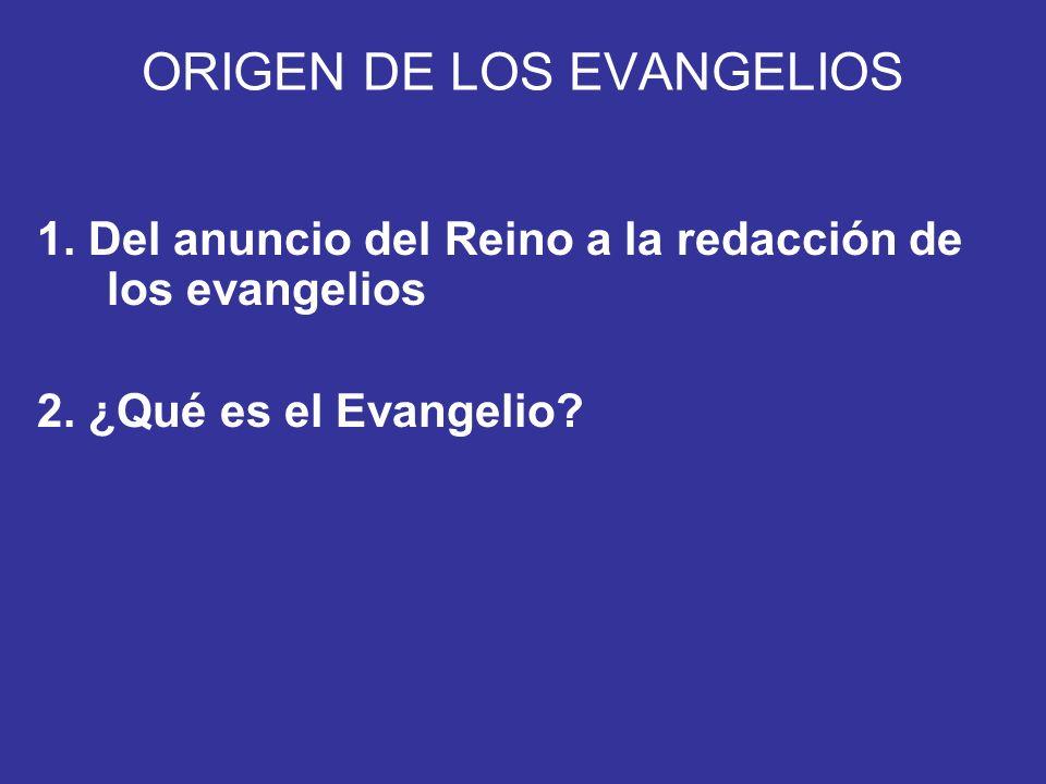 ORIGEN DE LOS EVANGELIOS