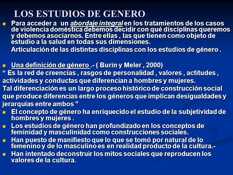 LOS ESTUDIOS DE GENERO