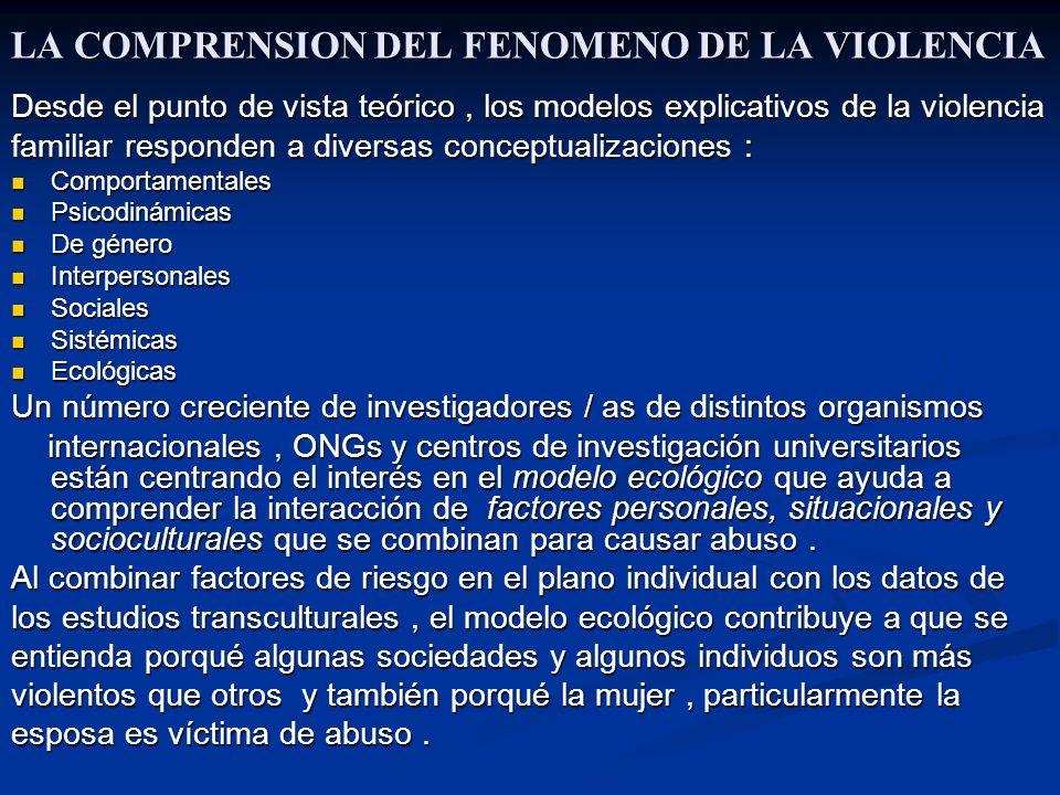 LA COMPRENSION DEL FENOMENO DE LA VIOLENCIA
