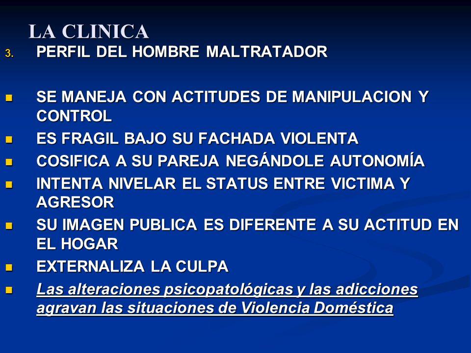 LA CLINICA PERFIL DEL HOMBRE MALTRATADOR
