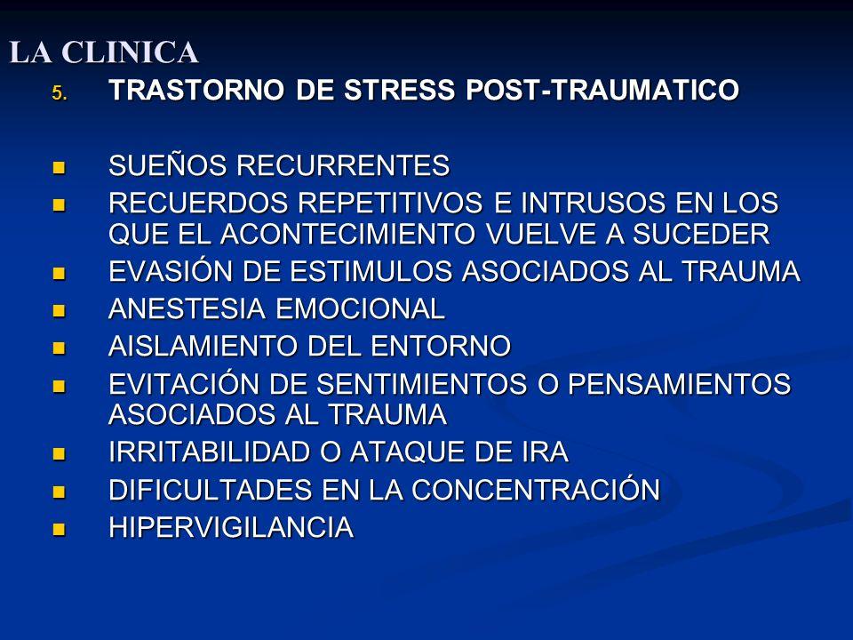 LA CLINICA TRASTORNO DE STRESS POST-TRAUMATICO SUEÑOS RECURRENTES