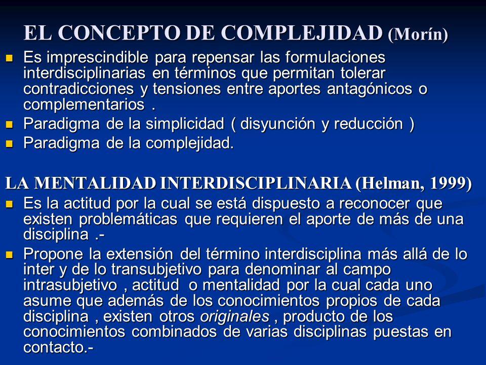 EL CONCEPTO DE COMPLEJIDAD (Morín)